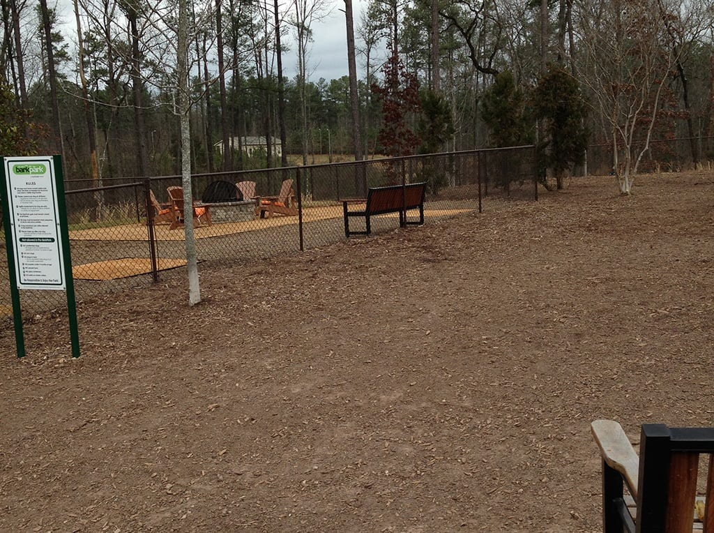 Brightleaf Apartments dog park before the installation of K9Grass by ForeverLawn