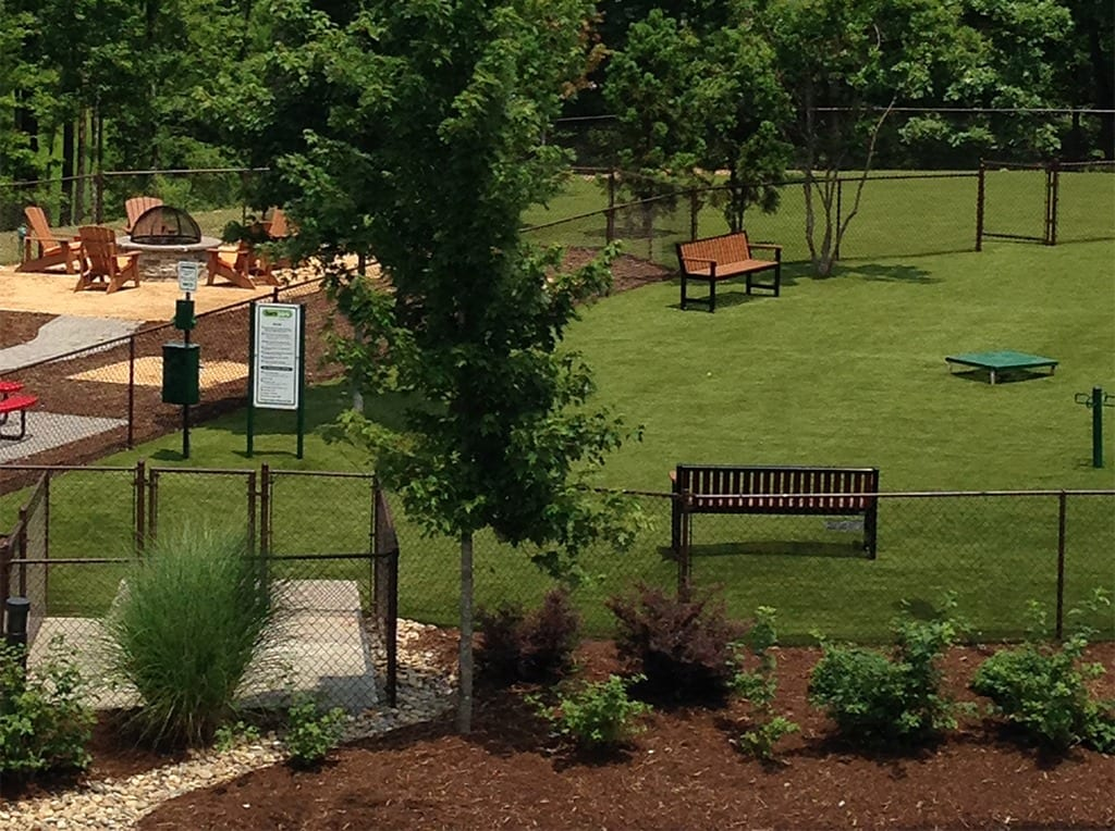Brightleaf Apartments dog park with K9Grass by ForeverLawn