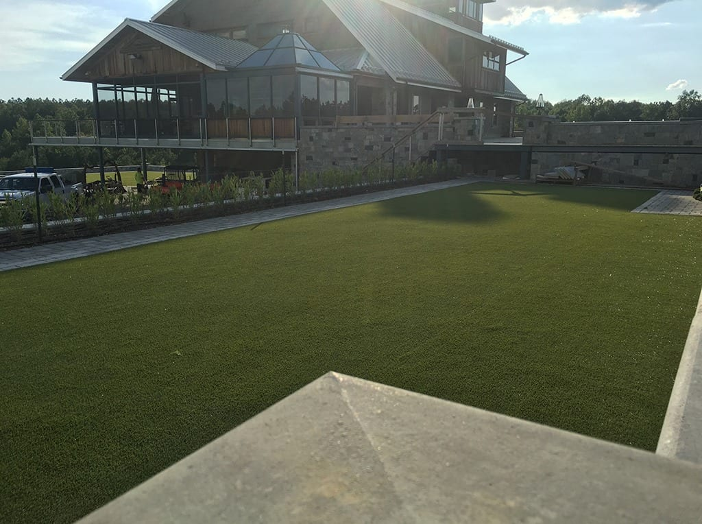 View of K9Grass by ForeverLawn and house
