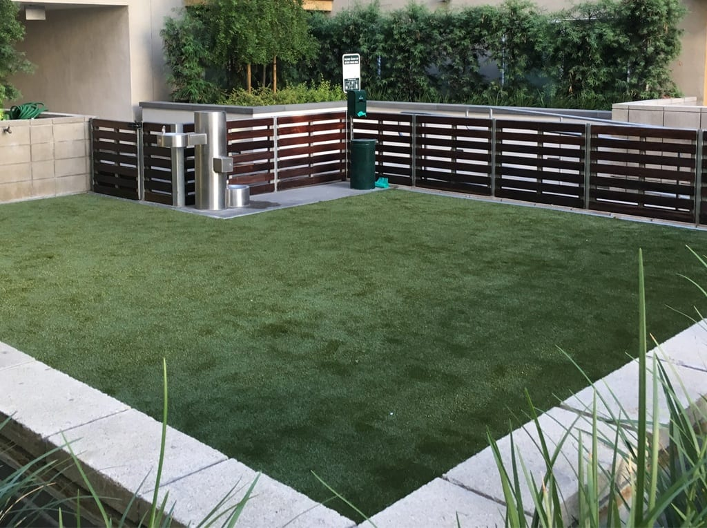 artificial grass at apartment complex