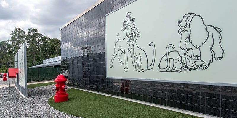 Outdoor installation of K9Grass by ForeverLawn at Best Friends Pet Care at Walt Disney World