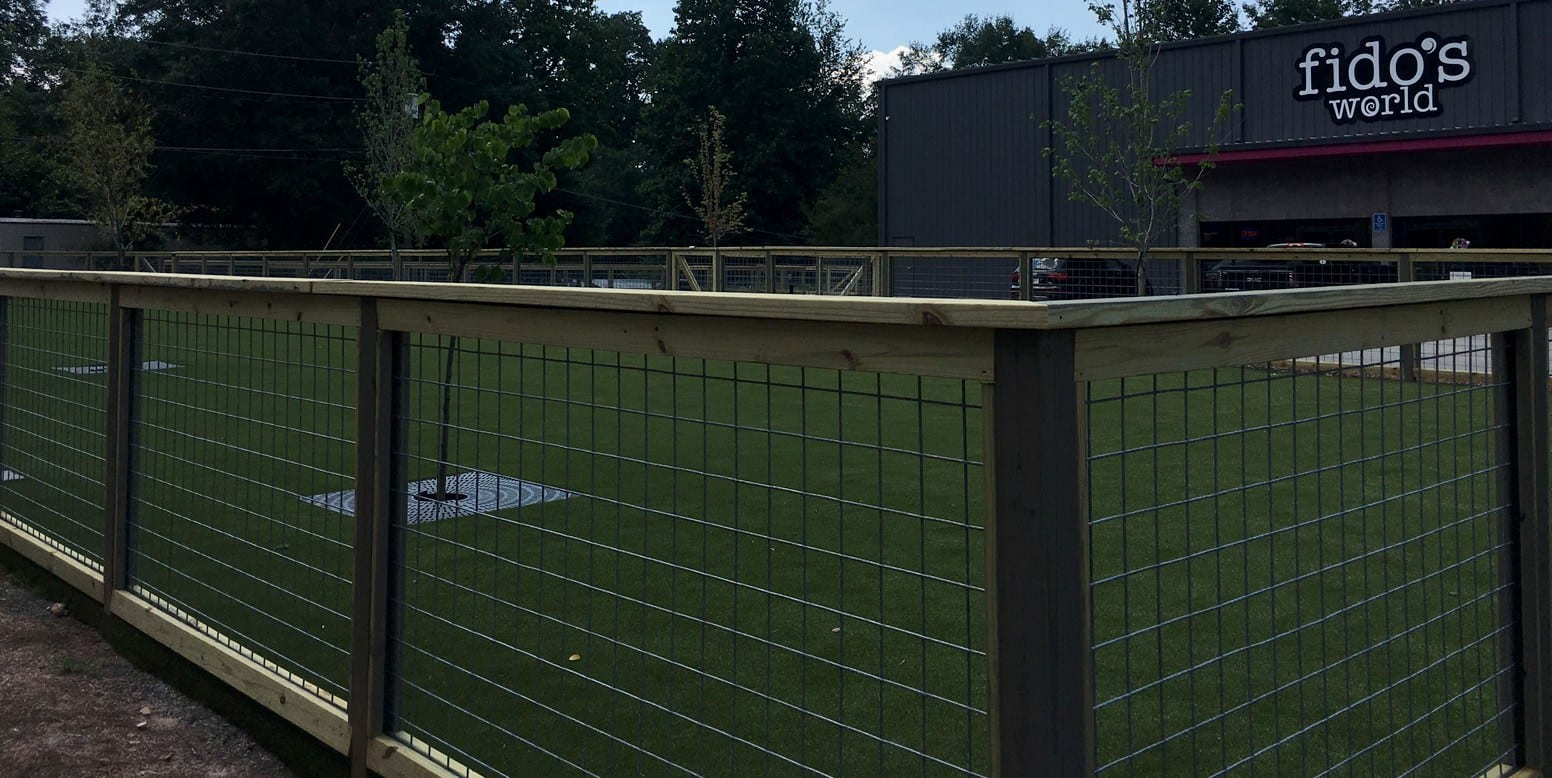 Fido's World outdoor training area with K9Grass by ForeverLawn