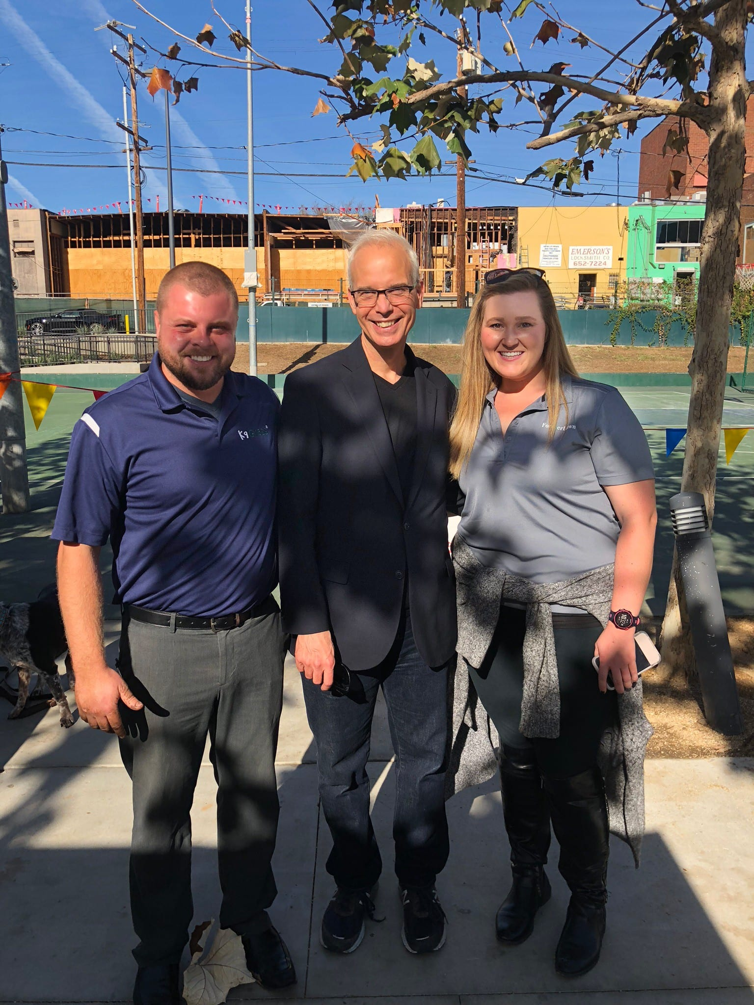 Beth and Corey from ForeverLawn Pacific Coast with Mayor John Heilman