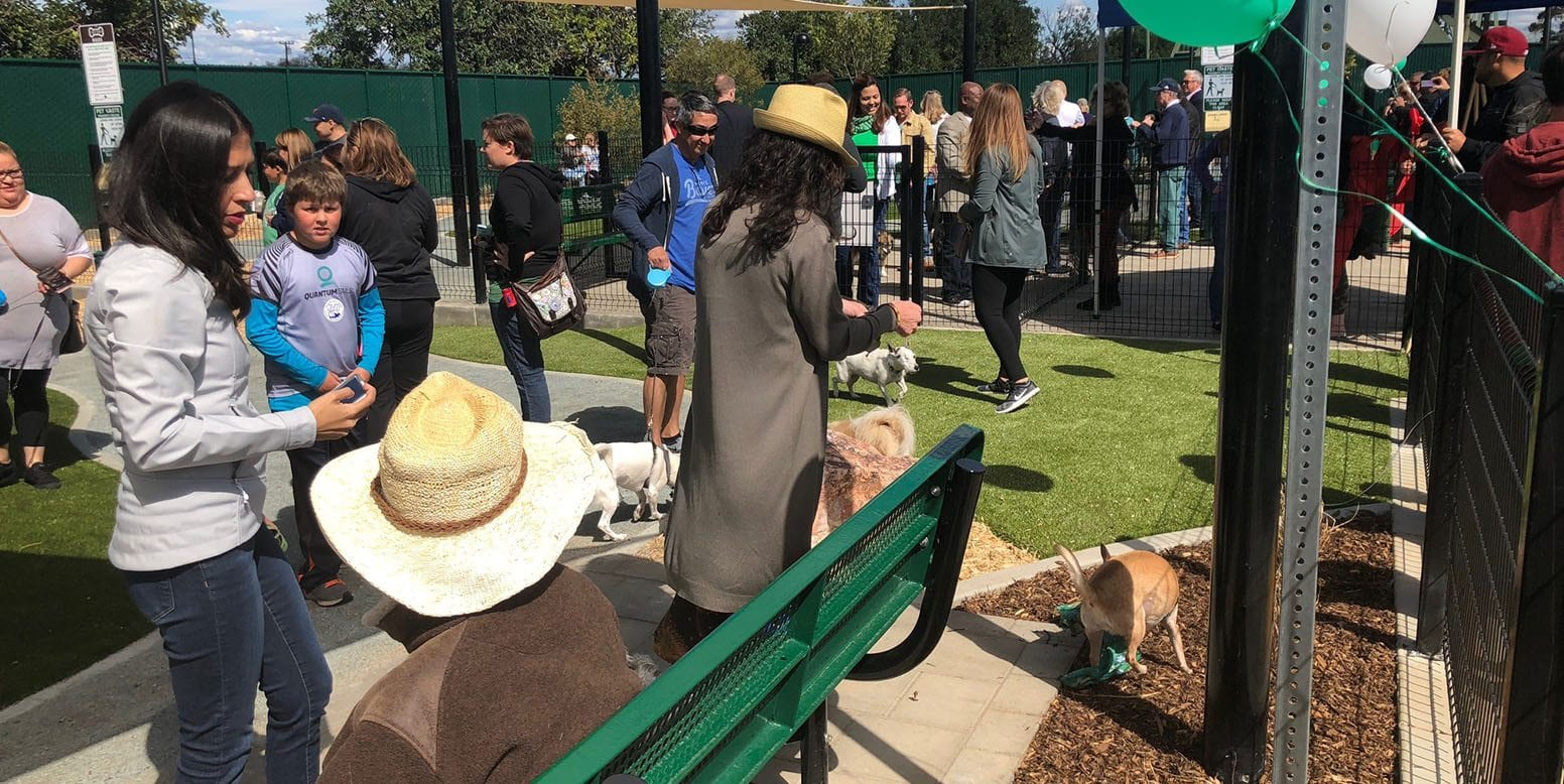Signal Hill Dog Park ribbon cutting ceremony in Long Beach, California
