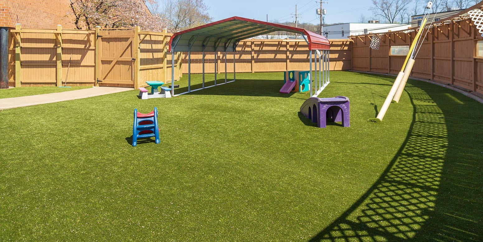 Best Friends Fur Ever dog play area with K9Grass® by ForeverLawn