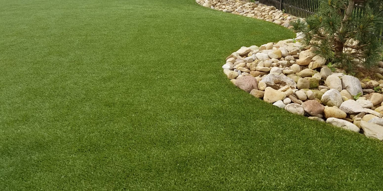 Fenced in backyard in Wexford, PA, featuring K9Grass by ForeverLawn