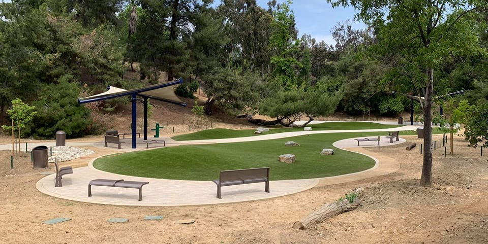 Eagle Rock Dog Park featuring K9Grass synthetic turf