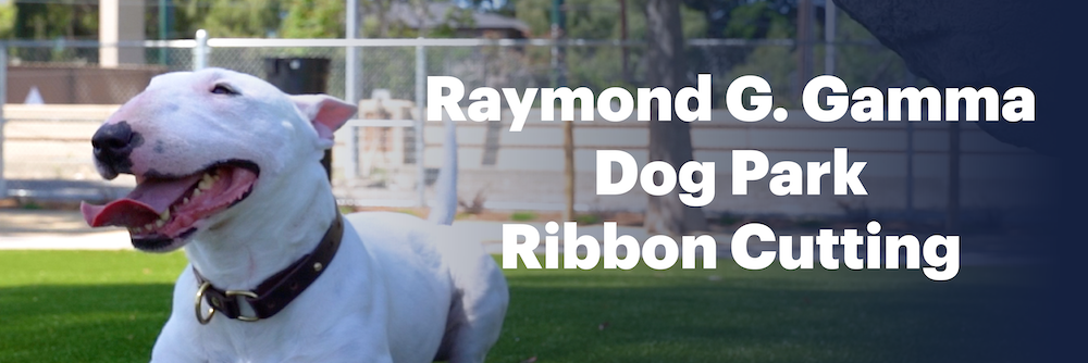 Raymond G. Gamma Dog Park Ribbon Cutting